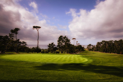 The 6th hole at Spyglass Hill Golf Course, part of the Pebble Beach corporation.