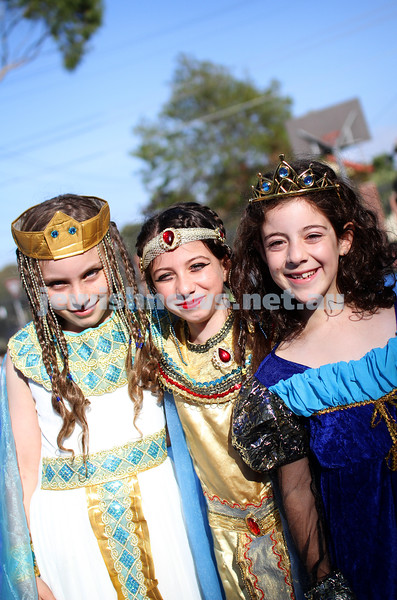 14-3-14. Sholem Aleichem College. Purim. Photo: Peter Haskin