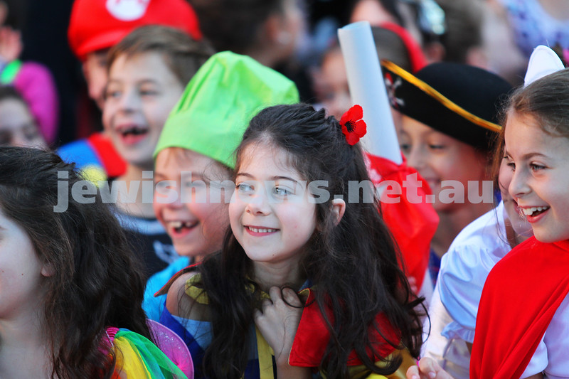 14-3-14. Mt Scopus, FKI Campus. Purim. Photo: Peter Haskin