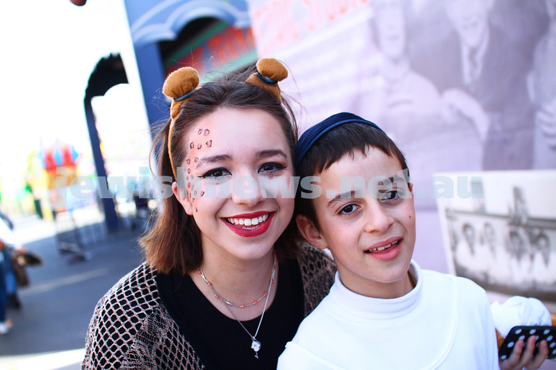 5-3-15. Purim 2015. Hamerkaz Shelanu at Luna Park. Photo: Peter Haskin