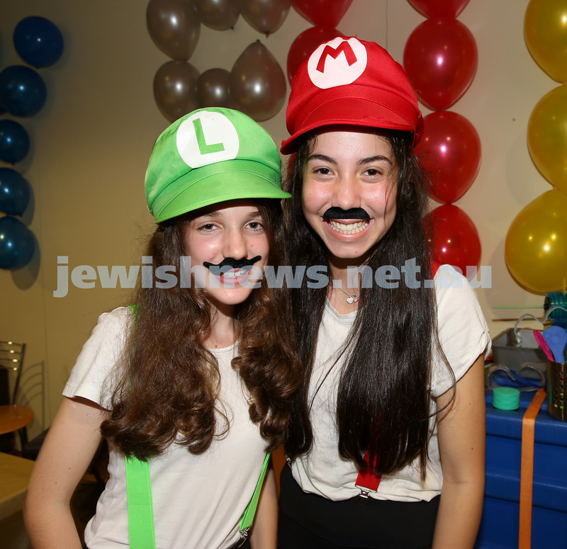 Chabad Of The North Shore Purim Party. Rachel Treisman & Mikayla Edelman.