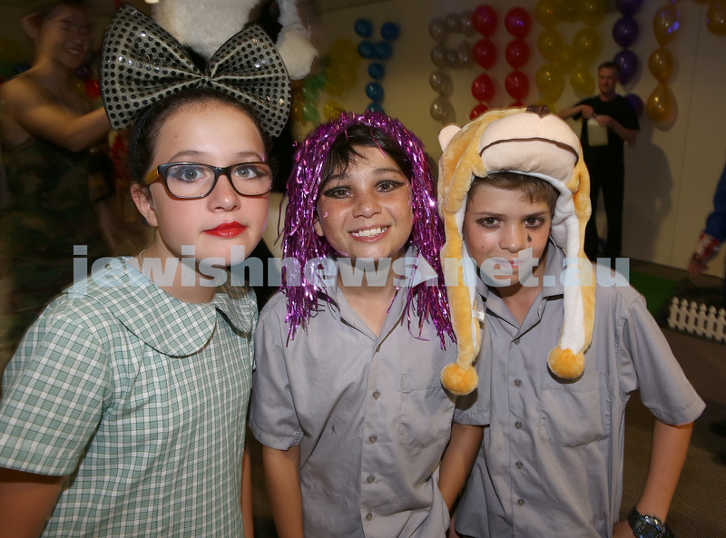 Chabad Of The North Shore Purim Party. Kyla Treisman, Jayden Treisman, Michael Tucker.