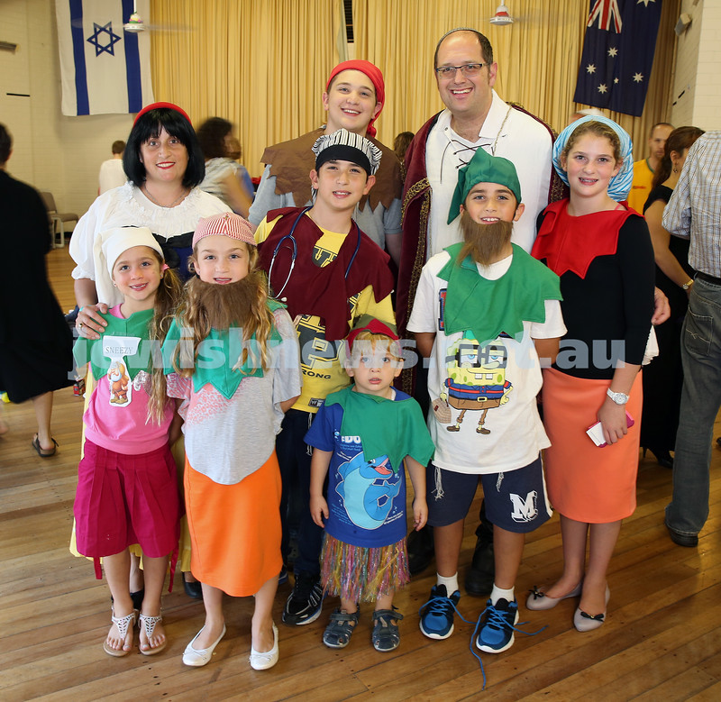 North Shore Syanagogue's Purim Party. Rabbi Paul Lewin and Family.