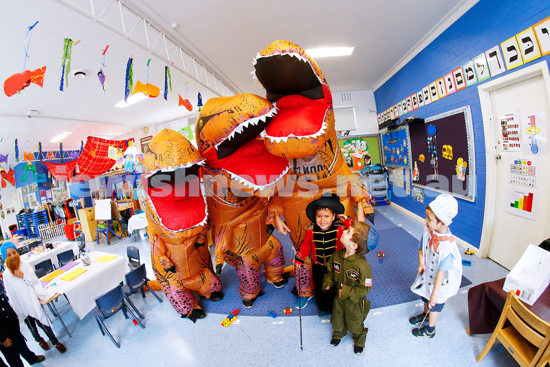 1-3-18. Purim around the schools of Melbourne. Yeshivah Centre. Photo: Peter Haskin