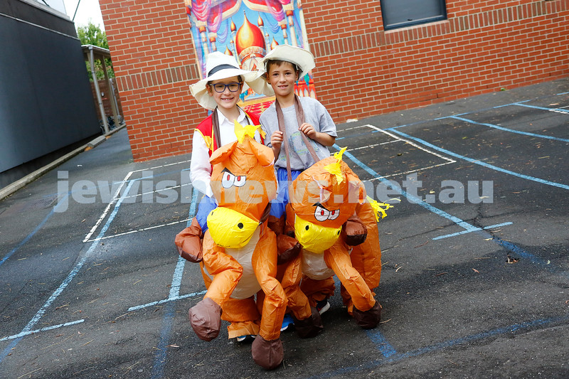 1-3-18. Purim around the schools of Melbourne. Yeshivah. Photo: Peter Haskin