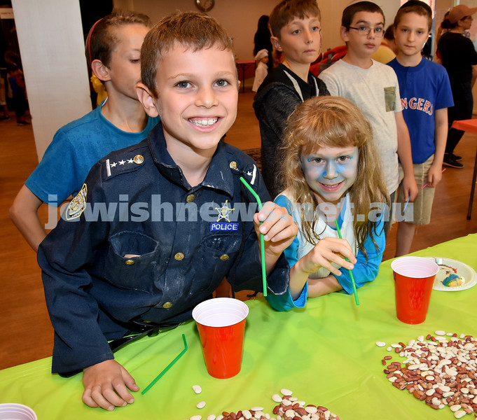 Purim at Tzemach Tzedek Synagogue. Pic Noel Kessel