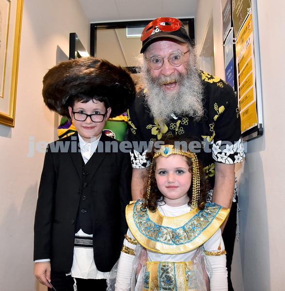 Purim at Bina. Pic Noel Kessel