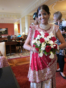 Purvi's bollywood dress change #4.  This time into her exquisite wedding sari.