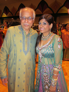 Dad with Purvi in her gorgeous Garba dress.