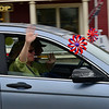 KRISTOPHER RADDER — BRATTLEBORO REFORMER<br /> Teachers and staff members from the Putney Central School, in Putney, Vt., drive around the community with first responders during a vehicle parade on Friday, May 8, 2020. The teachers wanted to reach out to the local community after the COVID-19 pandemic closed the school for the rest of the academic year.