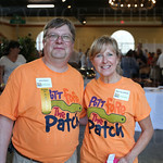 Event chair and member of the Board of Directors James Brown and hole design chair Mary Lee O\'Bryan.