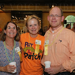 Board of Directors members Patty West, Liz Haas and  Board President Chip Snyder.