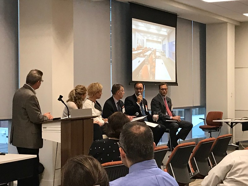 Rich Fournier, Assurance Partner, PwC; Janet Ringuette, Northeast Market Operations Leader, PwC; Tracy Lea Neff, Director of Real Estate Project Delivery, PwC; Tim Dempsey, Vice Chairman, CBRE Consulting Division; Ogden White, Senior Vice President, CBRE