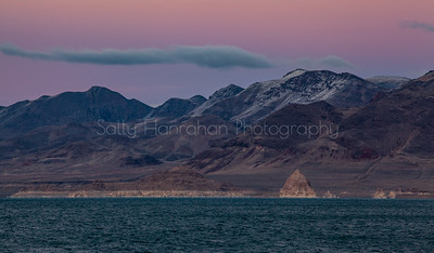 Pyramid Lake Pink Hour