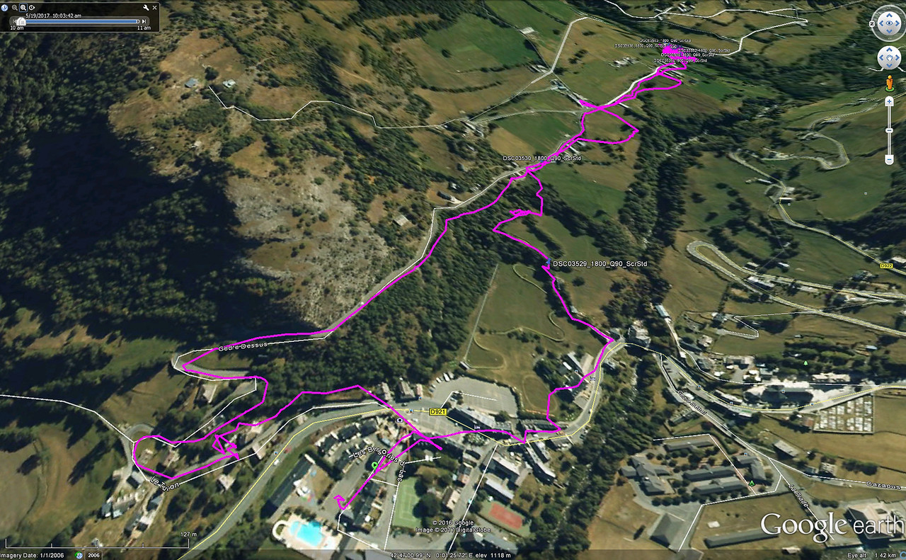 Last day.  Hike from our apartment (near swimming pool)  in Gedre to the water mills (Magenta)