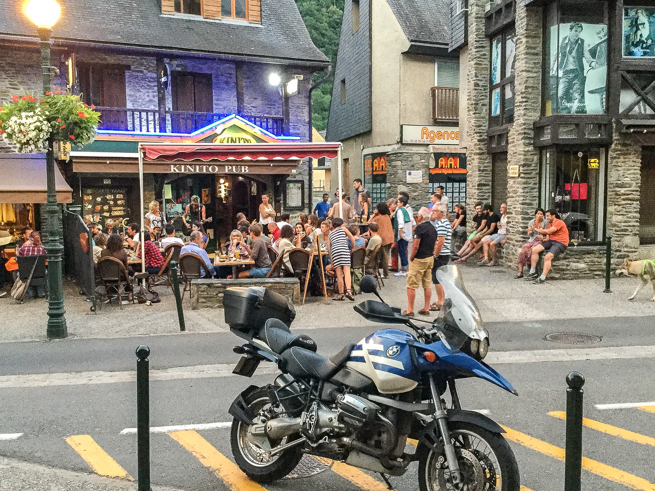 A cafe in Saint Lary Soulan