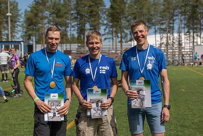 Miehet kultaa. André Haga, Pekka Niemi, Samuel Pökälä.