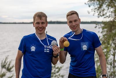 Miesten pitkän matkan mitalistit - Pekka Niemi ja André Haga