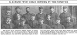 "Odebolt Knights of Pythias, 1894.  Pictured: John Mengis, Ed Hartman, John Bieser, Albert Jacobe, Kipler, Ralph Graham, Charles Hartman, Oscar Mengis, Fred Bieser, B. Brynteson, Henry Bieser, Lou Starkey, Chas. Lindquist.  (from ""Fifty Years of Progress"", The Odebolt Chronicle, Vol. 51, No. 31, August 25, 1938)  http://www.rootsweb.ancestry.com/~iaohms/biography/pioneer_knights_pythias.html"