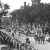 Knights of Pythias parade passing court house square<br /> <br /> Date: ca. 1910<br /> <br /> Portfolio: Milwaukee