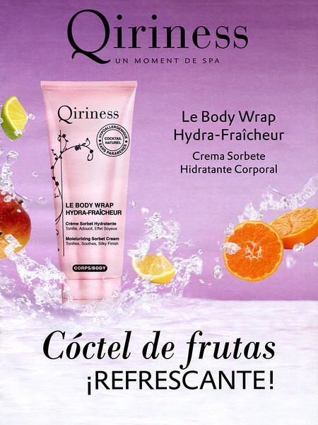 QIRINESS Le Body Wrap Hydra-Fraîcheur 2013 Spain 'Un moment de spa - Crema sorbete hidratante corporal'