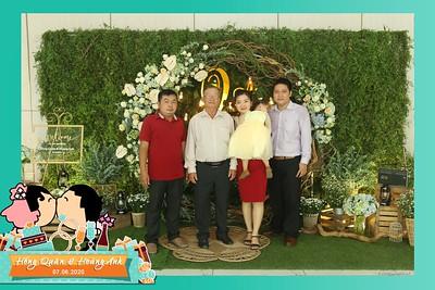 Hong Quan & Hoang Anh wedding instant print photobooth @ The Adora Nguyen Kiem | Chụp ảnh in hình lấy liền Tiệc cưới tại TP Hồ Chí Minh | Photobooth.vn Saigon