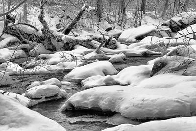 Blanketed Winter Brook by Lane Lewis