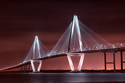 Ravenel Bridge at Sunset - Phyllis Peterson