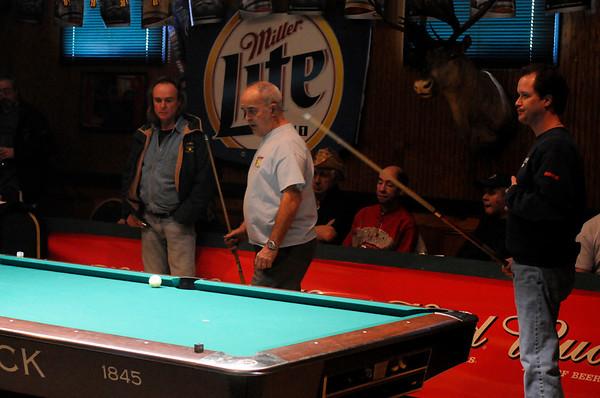 Chuck Wiggin senior and junior<br /> Brian Noel referee