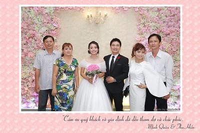 Minh Quan & Thu Hien wedding instant print photo booth - Chụp hình in ảnh lấy liền Tiệc cưới - WefieBox Photobooth Vietnam