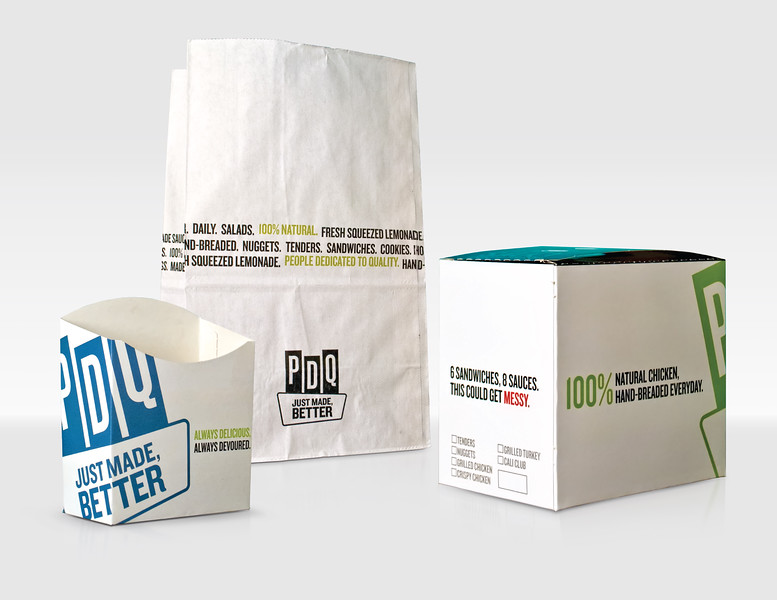 2017 FOODSERVICE PACKAGE OF THE YEAR FOR EXCELLENCE & FIRST PLACE FOR EXCELLENCE IN BRAND DELIVERY Product: PDQ Packaging Suite Company: PDQ Manufacturer: CMI