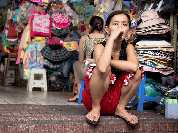 Taking a break, Tan Dinh Market