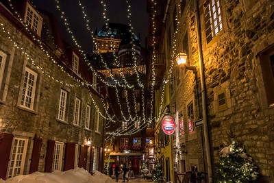 Looking up from Lower Quebec City