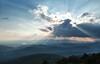 Queen Wilhelmina State Park - Crepuscular rays at Sunset