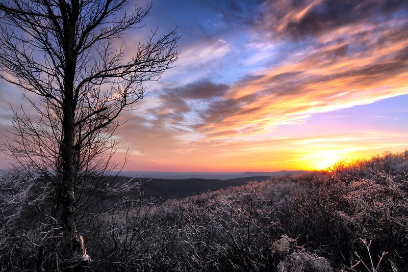Ice Mountain Sunset - Queen Wilhelmina State Park - Feb 2013