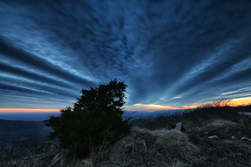 Sky Waves - Sunset at Queen Wilhelmina State Park - Mena, Arkansas - Jan 29, 2015