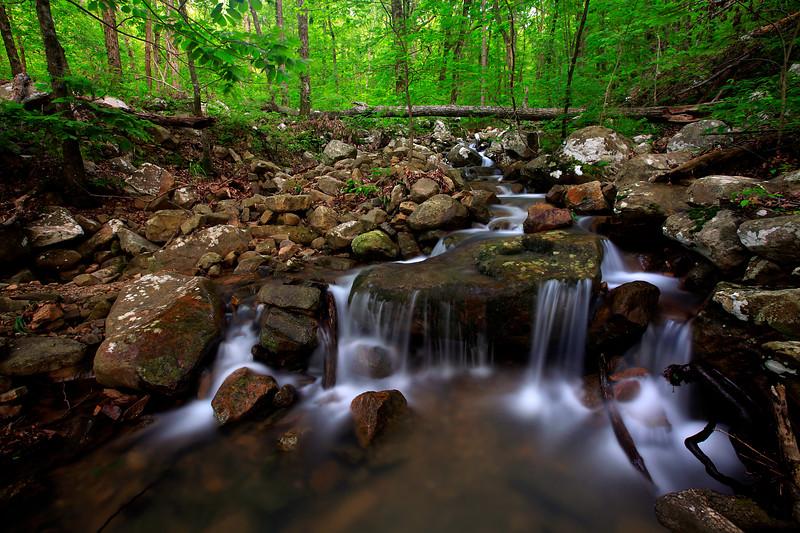 Hidden waterfall in the Ouachitas