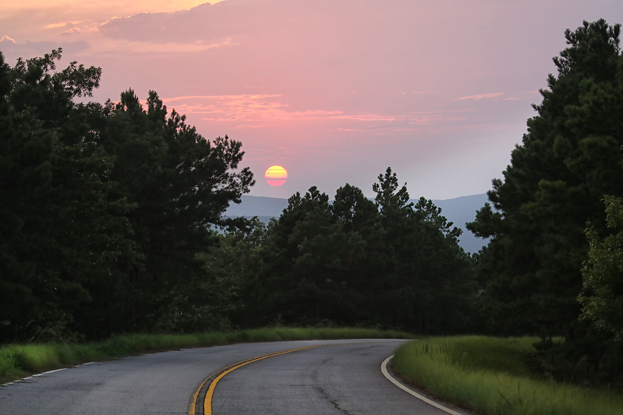 End of a Perfect Day - Talimena National Scenic Byway - Ouachitas - Aug 2014