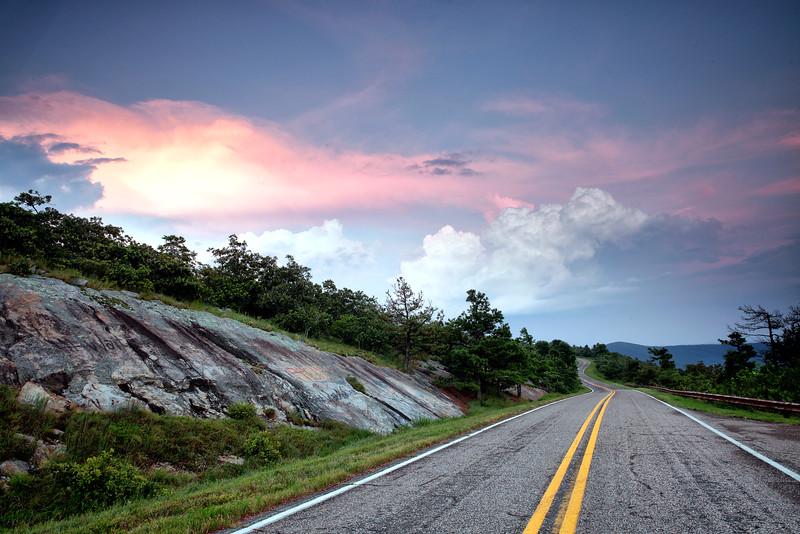 Cloud Color until Fall Color - Sunset - Queen Wilhelmina State Park - The State Parks of Arkansas - Mena, Arkansas