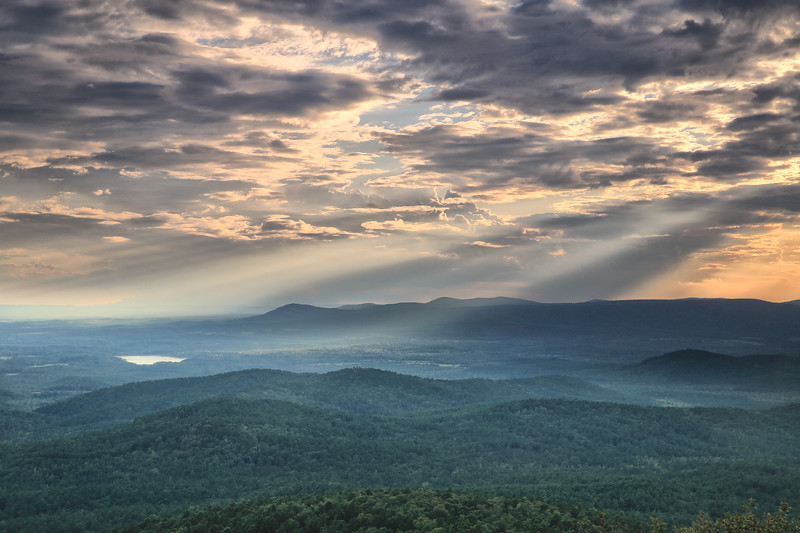 Beautiful Rays - Queen Wilhelmina State Park - Talimena National Scenic Byway - Mena, Arkansas - Sept 18, 2019