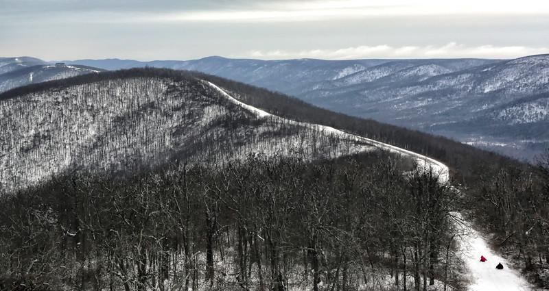 Snow Sledding Extreme - Queen Wilhelmina State Park - Feb 28, 2015