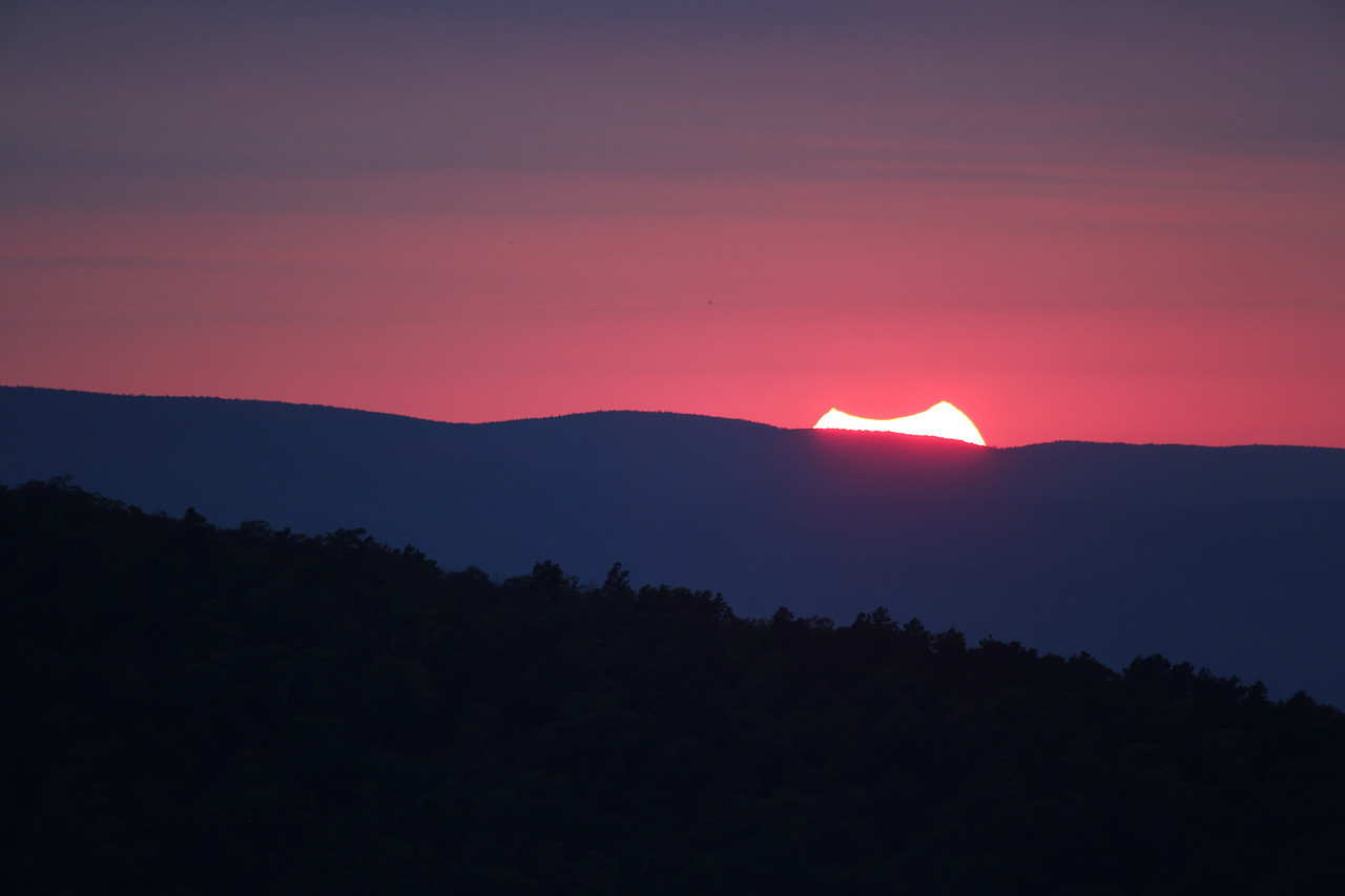 Solar Eclipse Over the Ouachitas - Talimena National Scenic Byway