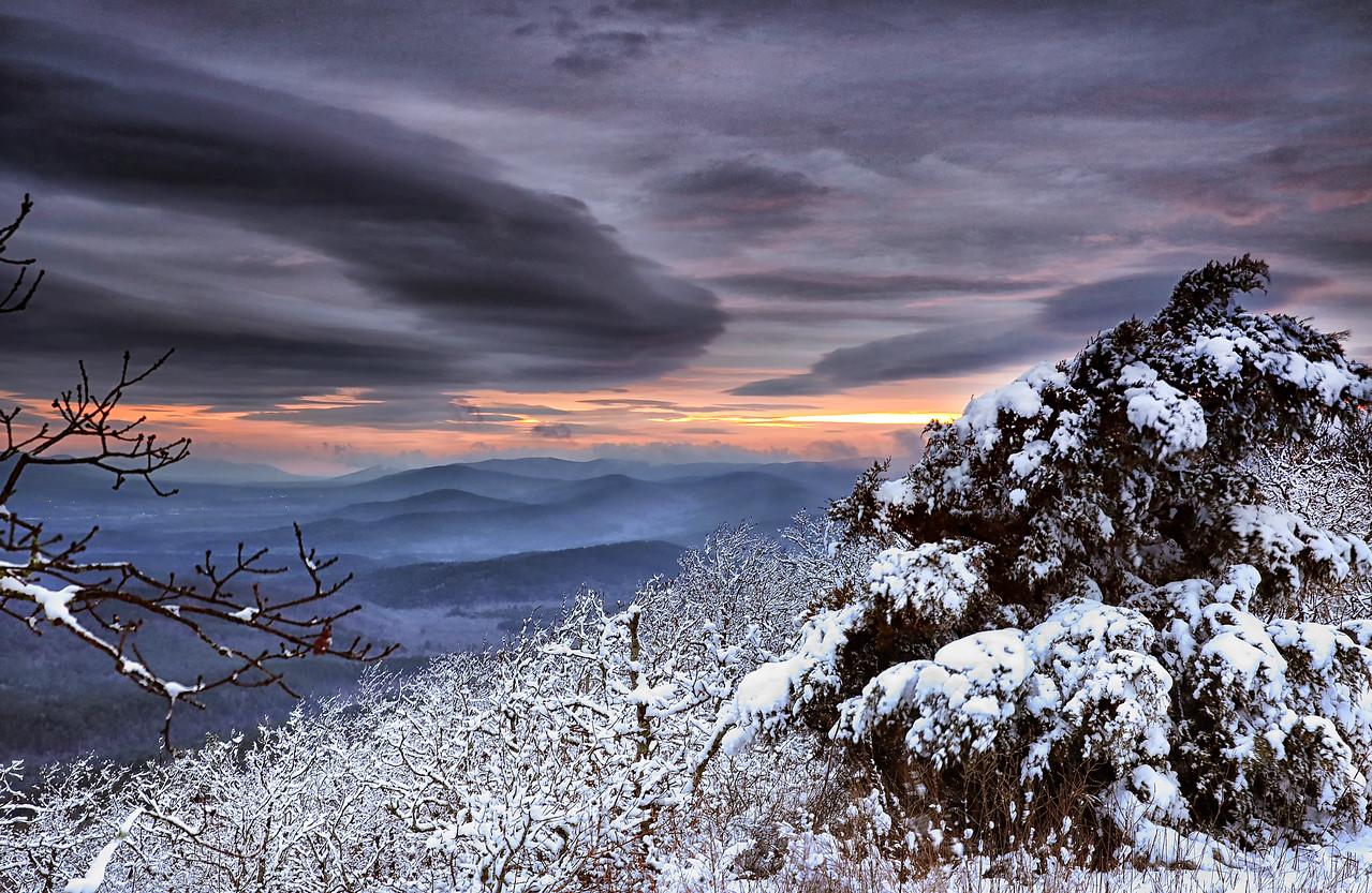 Winter Journey - Sunset at Queen Wilhelmina State Park - Jan 22, 2015