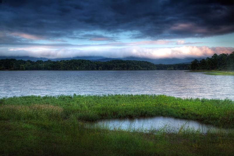 Lake Wilhelmina Storm Reflections