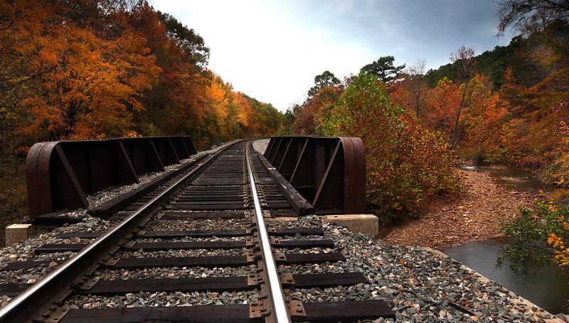 Train Track in the Fall - Ouachita River