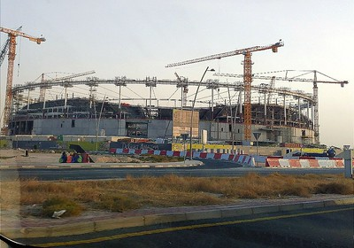 World Cup Stadium under construction