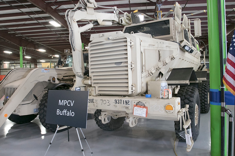 This MPCv Buffalo was on display the Waltham-based robot-developing company QinetiQ's ribbon cutting ceremony at their new facility on Devens Tuesday, August 27.2019. SENTINEL & ENTERPRISE/JOHN LOVE