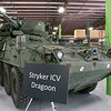 This Stryker ICV Dragoon was on display the Waltham-based robot-developing company QinetiQ's ribbon cutting ceremony at their new facility on Devens Tuesday, August 27.2019. SENTINEL & ENTERPRISE/JOHN LOVE