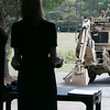 US Congresswoman Lori Trahan learns operate a high mobility engineering excavator from Michael Kastanes during her visit to the Waltham-based robot-developing company QinetiQ's ribbon cutting ceremony at their new facility on Devens Tuesday, August 27.2019. SENTINEL & ENTERPRISE/JOHN LOVE