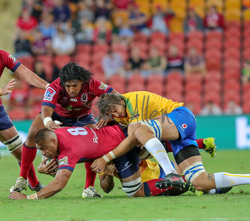 Caleb Timu being tackled